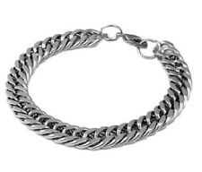 10MM MENS STAINLESS STEEL CHUNKY CURB BRACELET 8.5''