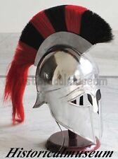 Greek Corinthian Helmet W/PLUME Crusader Knight Spartan Halloween PROPSDJ SCA WM
