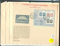 s2388 Stamp Accumulation Canada Souvenit Sheet Capex 1978