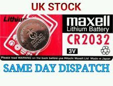 1 x Maxell CR2032 3V Lithium Button Coin Cell Battery For Fob Free UK Shipping &