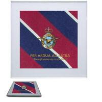 "Royal Air Force Premium Drinks Mug Coaster Crest on RAF Tie ""Per Ardua ad Astra"""