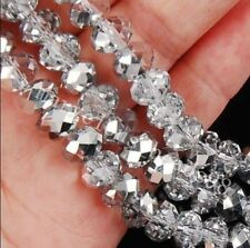 146pcs 3x4mm silvery Crystal Faceted Loose Beads AAA
