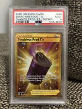 2020 Pokemon Champion's Path Suspicious Food Tin FA Secret Gold PSA 9