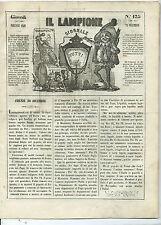 Giornale Il Lampione Collodi Lorenzini Estremità Politiche Satira Costituzione