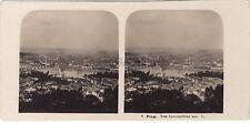 Prague Prag République tchèque Panorama Stéréo Vintage argentique 1903