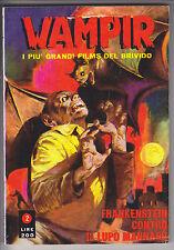 WAMPIR i più grandi film DEL BRIVIDO  n. 2  ed. Ponzoni 1970 #  edicola