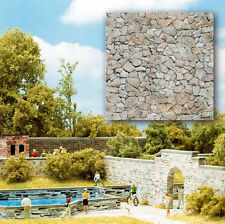 Busch 7422 NEW NATURAL STONE WALLING 2 X CARD SHEETS EA 210X148MM