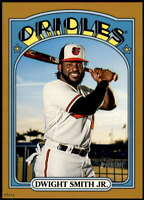 Dwight Smith Jr. 2021 Topps Heritage 5x7 Gold #414 SP /10 Orioles