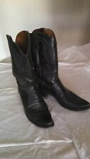 Lucchese 1883 Black All Leather Cowboy Western Boots Mens Size 12 D