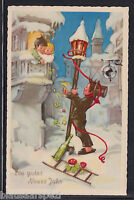 herrliche  Alte Postkarte - Ein gutes  Neues Jahr