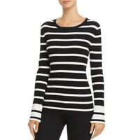 New Women's Theory Striped Crewneck Pullover Size Small MSRP $345