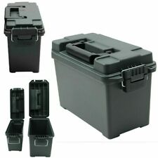 Ammo Box Military Style Plastic Storage Can Heavy Duty Caliber Bulk Crate Chests