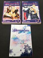 Millennium Snow Volumes 1 - 3 Shojo Beat Manga Book Lot English Viz Media