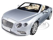 2016 BENTLEY CONTINENTAL GT CONVERTIBLE SILVER FROST 1/18 BY PARAGON 98231