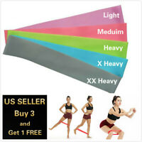 2 FT RESISTANCE BANDS LOOP Exercise Yoga Training Elastic Fitness Gym Workout
