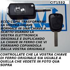 GUSCIO COVER PER CHIAVE TELECOMANDO CITROEN C1 C2 C3 TRASFORMATO A SCATTO