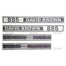 New David Brown 885 Selectamatic Hood Decal Set