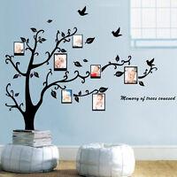 Cute Decor Photo Frame Black Tree Removable Decal Room Wall Sticker Vinyl Art