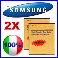 2X Batteria GOLD MAGGIORATA 2450mAH SAMSUNG GALAXY S3 MINI i8190