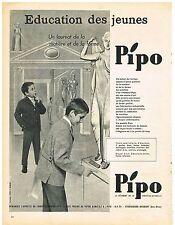 PUBLICITE ADVERTISING  1960    PIPO   blazer vetements enfants