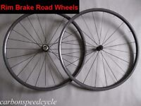 700C 24mm Tubular carbon fiber road wheels with rim brake