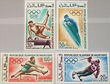 MAURITANIA MAURETANIEN 1968 334-37 C72-75 Olympics Mexico Grenoble Sport MNH
