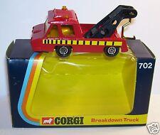 CORGI TOYS HI-SPEED BREAKDOWN TRUCK DEPANNEUSE ACCIDENT 2 GYRO 1/50 1975 REF 702