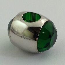 Lauren G Adams Rhodium Gemini May Birthstone Emerald Cz  Bead Charm, Fits All