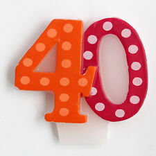 CANDELINA NUMERALE PER I 40 ANNI, candeline, candela POIS creative compleanno