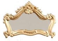 Dolls House Gold Framed Fireplace Mantelpiece Mirror Miniature 1:12 Accessory