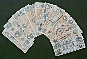 A&BC Gum Confederate Bank Notes Civil War News 1965: Select From Multi-LIst Menu