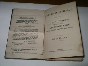 1925 SR Booklet SOUTHERN RAILWAY Instructions for Electrified Lines