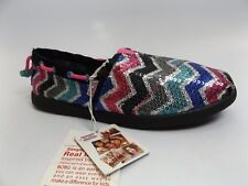 Children's Girls Sz 2.0 M BOBS BY SKECHERS rainbow Glitter Shoes. DISPLAY  M7091