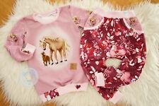 ♥ süßes Mädchen-Set, Gr. 110, handmade Unikat, Pferde-Liebe, Hab dich lieb ♥