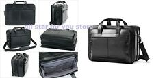 Samsonite Leather Business Cases Expandable Laptop Briefcase Black Was $300