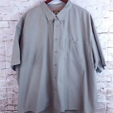 CABELAS Men's Size 4X Cotton Vented Short Sleeve Hunting Fishing Button Shirt
