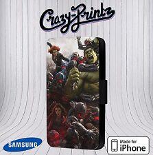 Marvel Avengers Hulk Cool fits iPhone & Samsung Leather Flip Case Cover K18