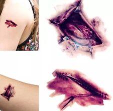 Wound Scab Blood Halloween Scar Tattoos Temporary Tattoos Sticker Decor