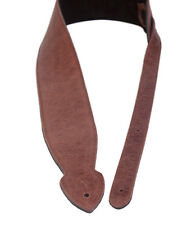 """Brown Leather Softy Guitar Strap Padded 2.5"""" By LeatherGraft Factory Second"""