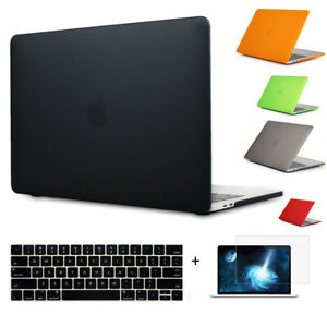 "Hard Rubberized Case Keyboard cover Screen Film 3IN1 F Macbook Pro Air 11 13 15"""