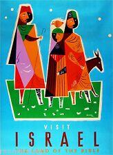 Israel Jerusalem Land of the Bible Vintage Travel Advertisement Art Poster