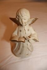 """Musical Porcelain Angel Vintage made in Japan 7"""" Tall Silent Night"""