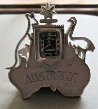 RARE UNIQUE AUSTRALIA LETTER/BUSINESS CARD HOLDER & CLOCK-KANGAROO & EMU-STAR+