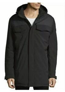 NEW $395 TUMI Men's Parka Jacket w/Detachable Hood Black Size: Small