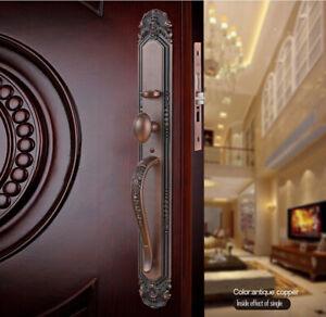 New Gove European style Villa Luxurious Exterior Entry Door Handle Lock set