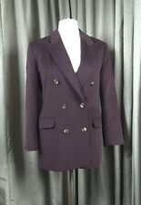 Marks & Spencer Wool/Cashmere/Angora Brown Double Breasted Blazer UK12 EU40
