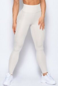 BOMBSHELL SPORTSWEAR LOUNGE RIB LEGGINGS, OATMEAL,, SIZE XL, EXCELLENT CONDITION