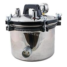 8L Dental Autoclave Steam Press Sterilizer Lab Equipment Medical Sterilization