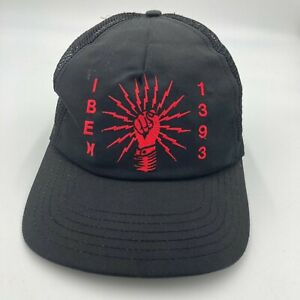 Vintage IBEW 1393 Electrical Union Trucker Hat Cap Black Snap Back
