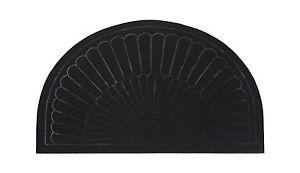 Half Round Circle Molded Brush Indoor/Outdoor Rubber Tufted Doormat